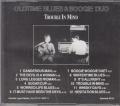 Oldtime Blues & Boogie Duo - Trouble In Mind - CD back