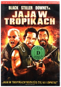 Jaja w tropikach DVD (Robert Downey Jr., Jack Black)