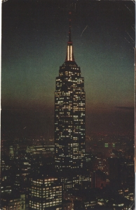 USA - Nowy Jork - Empire State Building nocą - 1958