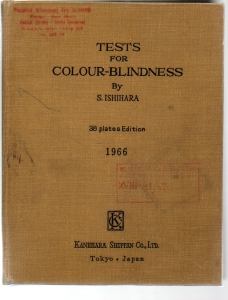 Tests for colour-blindness By Ishihara 38 plates 1966