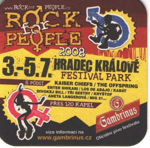 Gambrinus - Nastraz ucho - Rock for people 2008 - Czechy