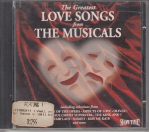 The Greatest Love Songs From The Musicals  - CD