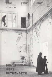 Beuys Gerz Ruthenbeck Venezia 1976